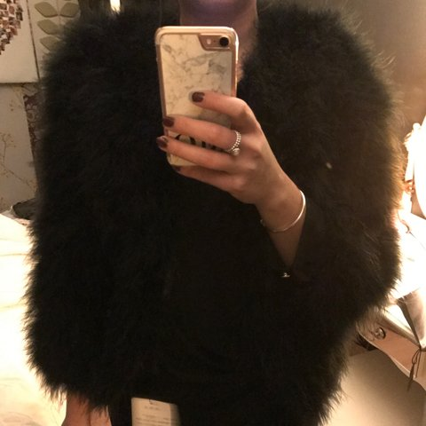 71276753660 @michaelalouiseq. last year. Leeds, UK. OSTRICH FEATHER JACKET 💜 Available  in Black ...