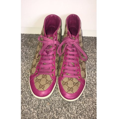 bcf12f7923b Genuine womens gucci hightop trainers. Also come with box