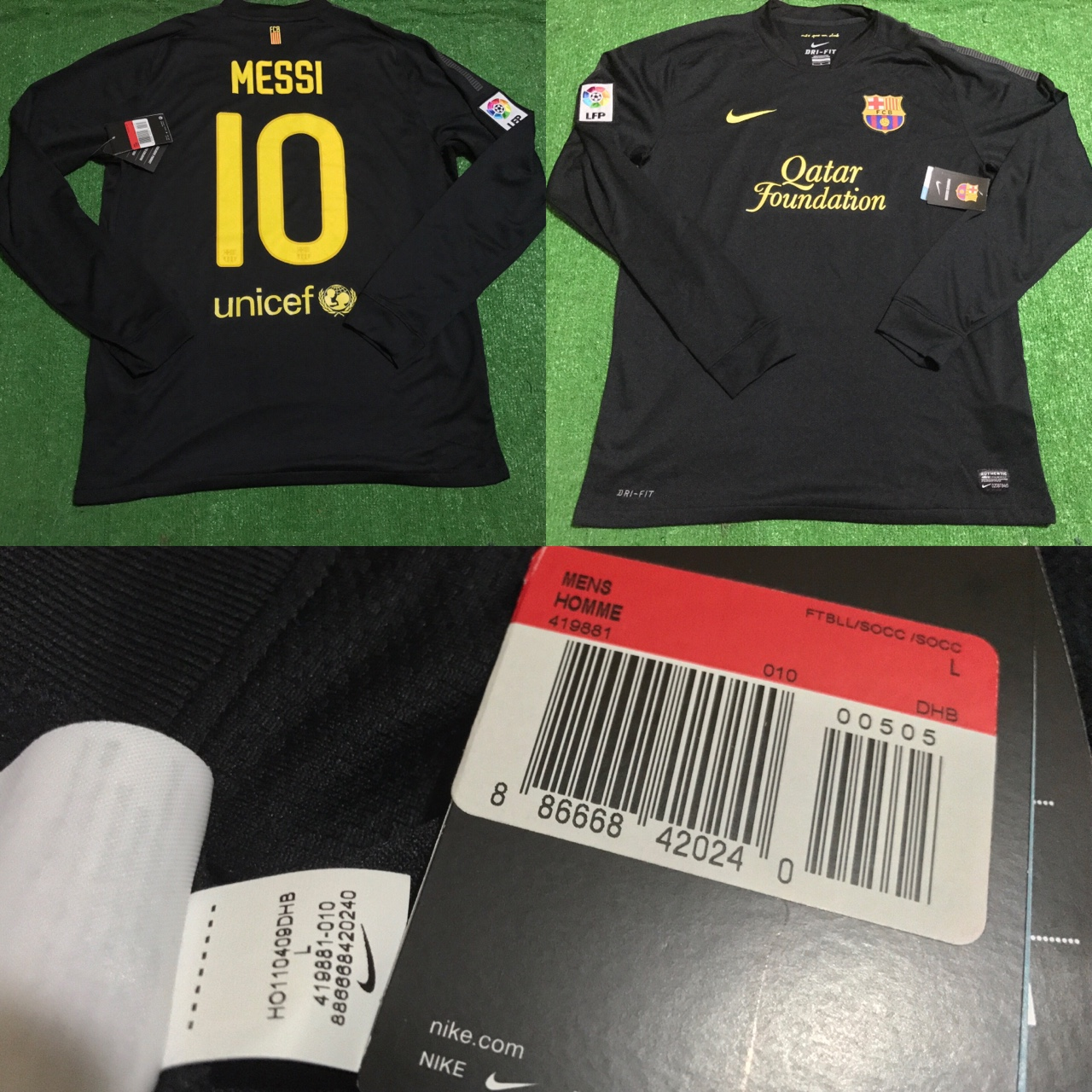 online store 3808d 89cfa Brand new with tags Leo Messi black long sleeve... - Depop