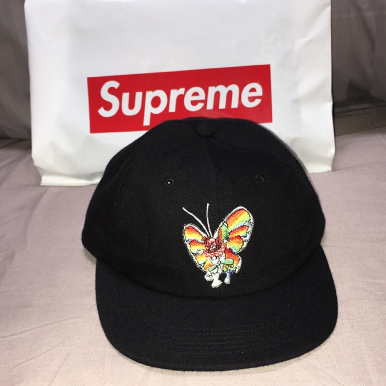 Supreme hat - Gonz Butterfly 6 - panel black brand new . any - Depop 73b2a7cea