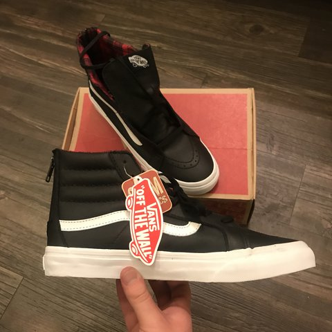 186dc6c23a Vans Sk8 Hi Slim Fit Plaid Flannel Style Reissue. Deadstock - Depop