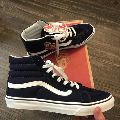 c27d6de899 Vans Sk8 Hi Classic slim fit. Eclipse blue color way. Men s - Depop