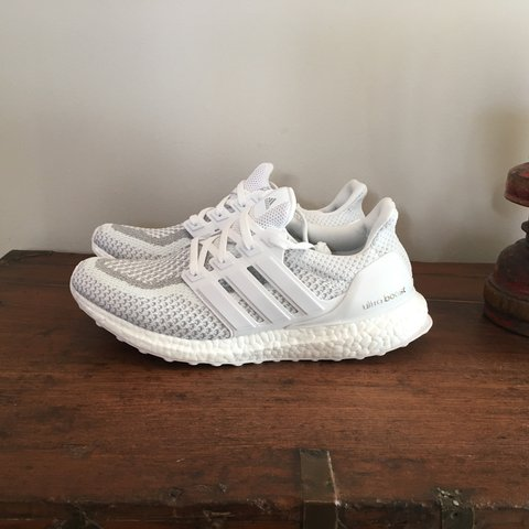 fdc2985feface Adidas Ultra Boost 3M Reflective Triple White Brand New 100% - Depop