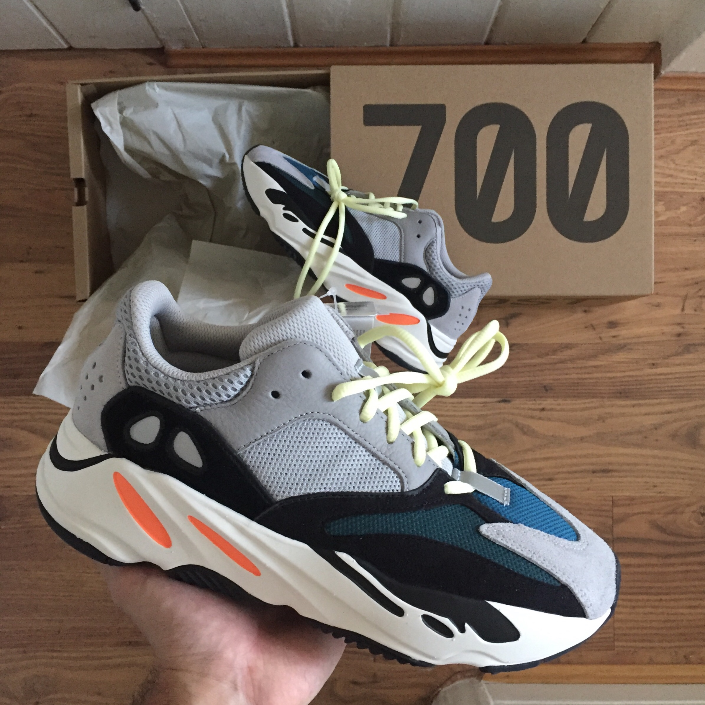 low priced 5ee98 61ef6 Adidas Yeezy Wave Runner 700 solid grey UK8 Brand... - Depop