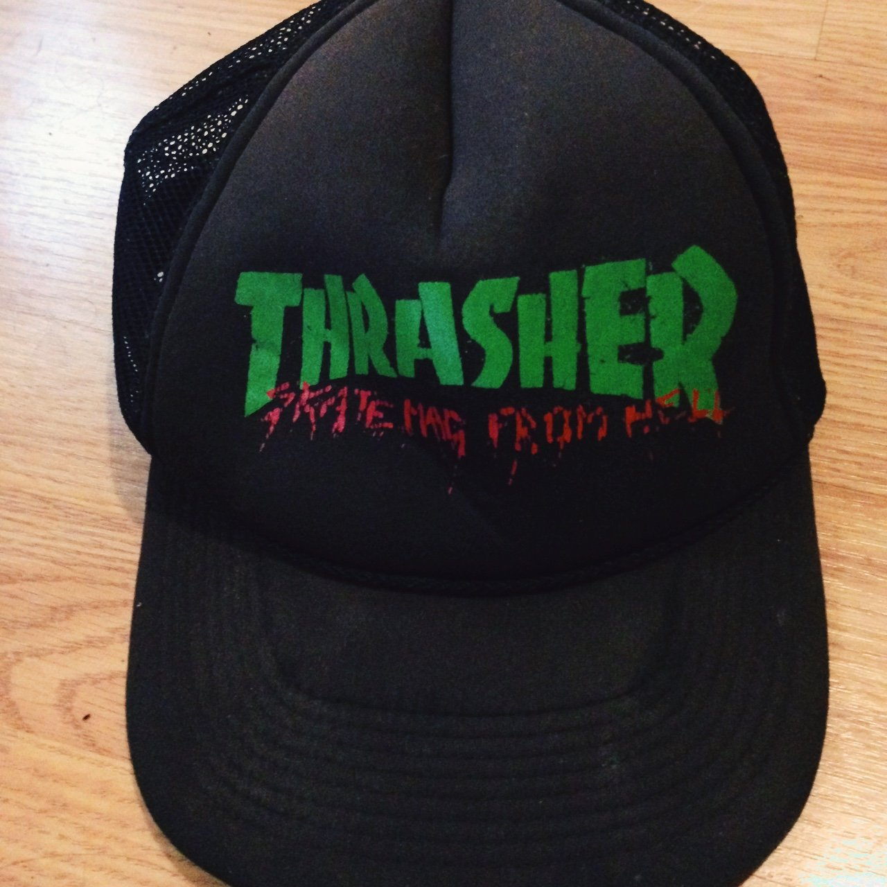 Thrasher double SnapBack hat . Reads