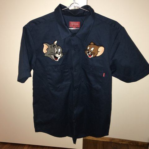 Bjarkih 2 Years Ago London Uk Supreme Tom And Jerry Work Shirt