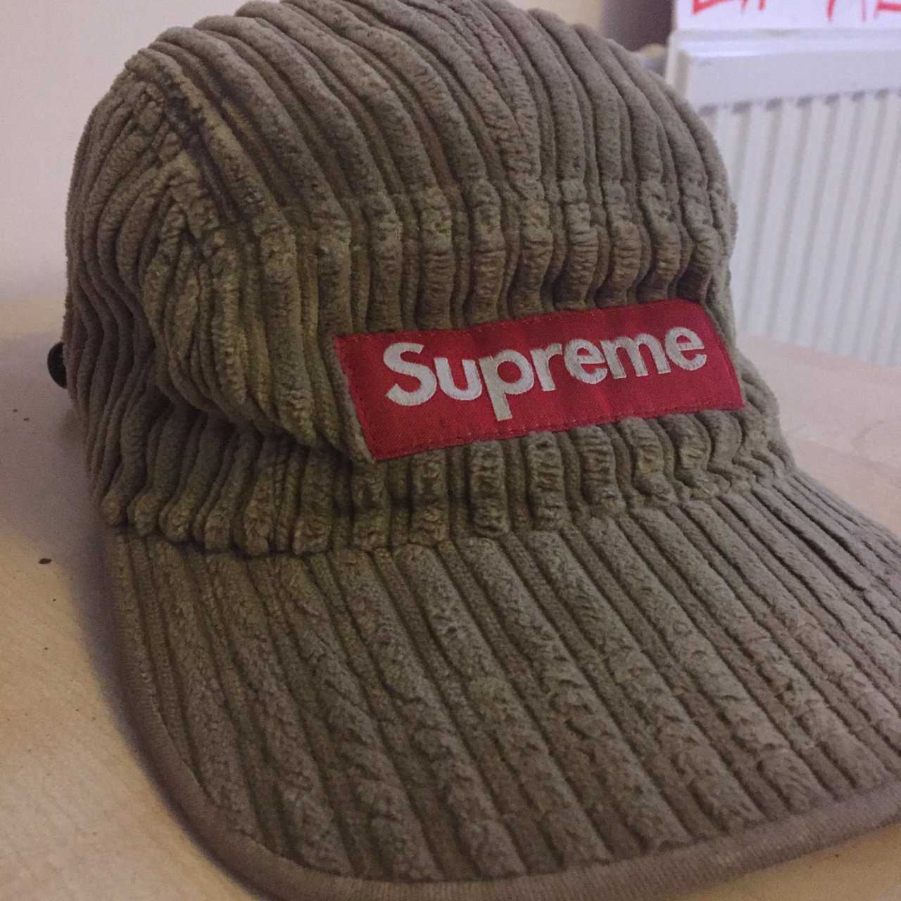 a448736c999 Corduroy supreme 5 panel hat. 9 10 condition. No stains or - Depop