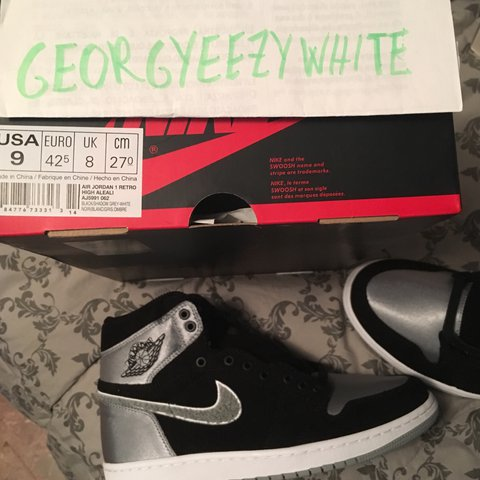"b05d31571bb @georgyeezywhite. last year. Bergamo BG, Italia. Air Jordan 1 Retro High OG  ""Aleali"" satin size US9 - 42 ..."
