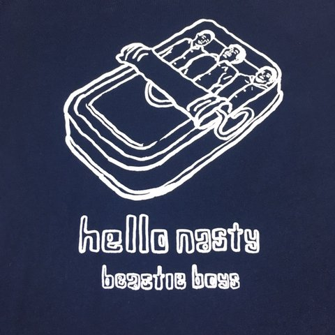 Y2k Beastie Boys Hello Nasty Navy T Shirt No Size Listed Depop