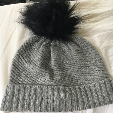 eb696e2610d Asos black and grey knit beanie Pom Pom   bobble hat! One - Depop