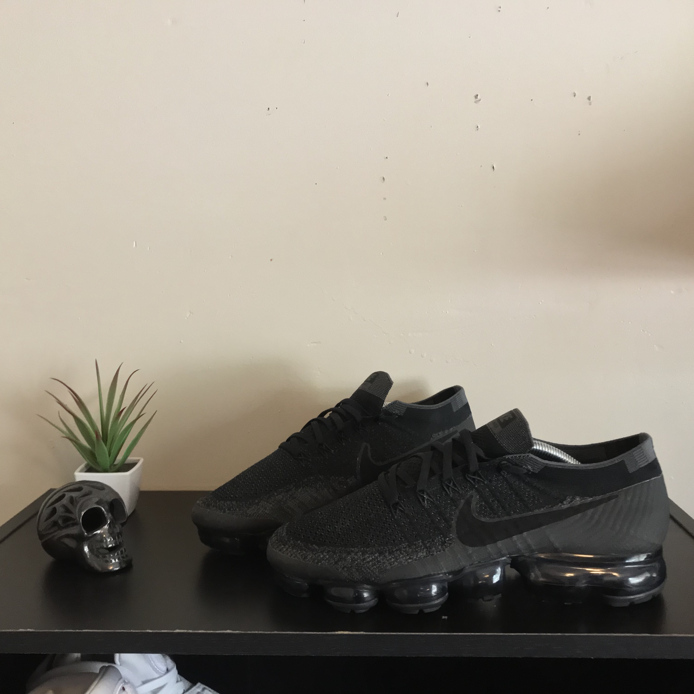 detailed look f64d4 a5b8b Nike Air Vapormax Flyknit Original Triple Black... - Depop