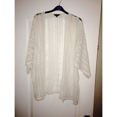 faa8154a935be Cream kimono from new look. Size 16 only worn twice so in ✨ - Depop