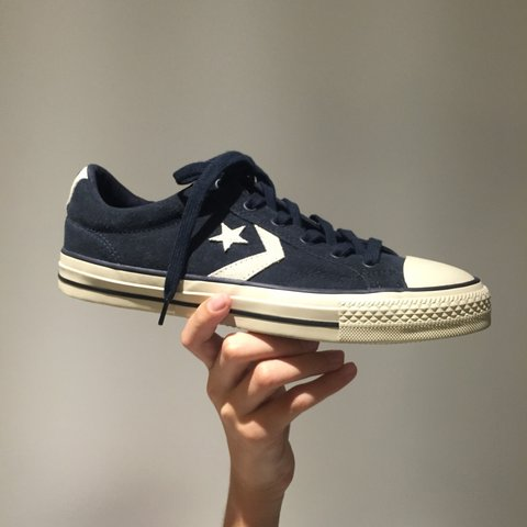 5320d738a497 men s converse navy   white star player remastered - never - Depop
