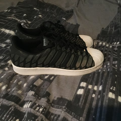 9c559bf47 Adidas superstar xeno in black and white. Had for around a 5 - Depop