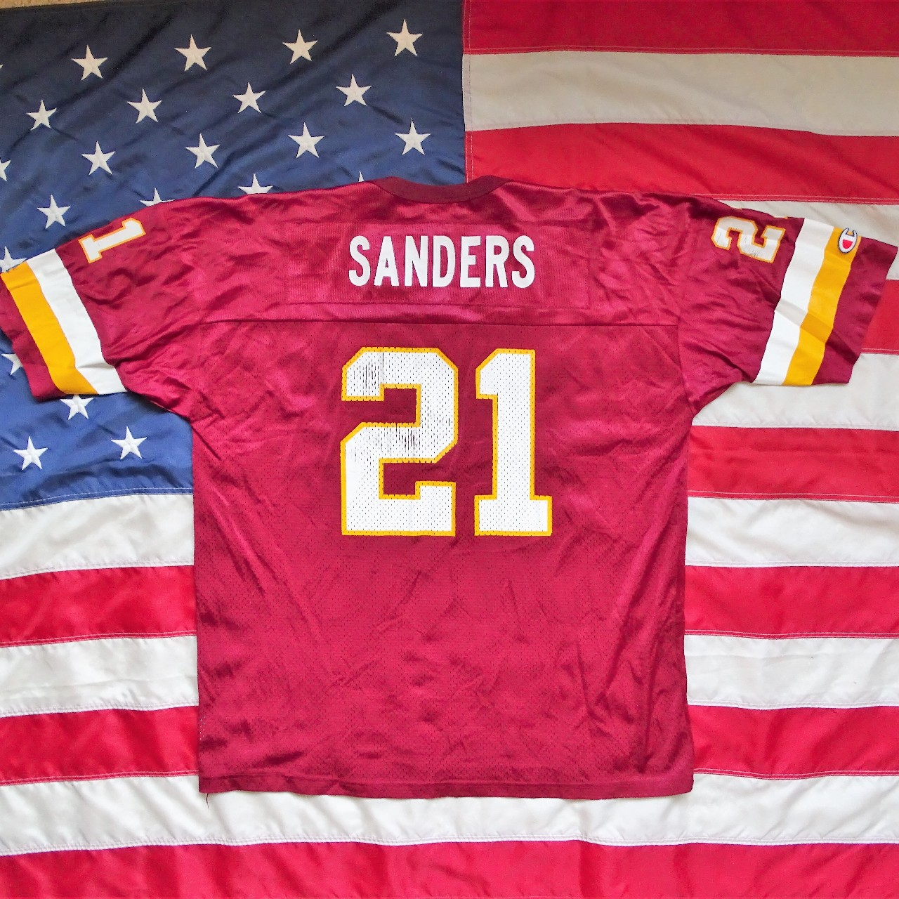 pretty nice 7261c 23872 Vintage Deion Sanders Washington Redskins jersey by... - Depop