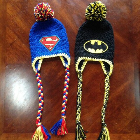 79ad1131002 Superhero Inspired Crochet Hat. Turnaround time 5-7 days. - Depop