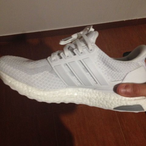 cac4a5836 Adidas Ultra Boost Triple White 2.0    size  7.5 UK - 8 US - Depop
