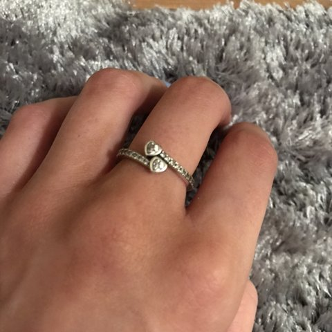 "7a81a4d41 @shaunajoannexx. 5 months ago. Liverpool, United Kingdom. Pandora ""forever  hearts"" ring, size 54 in good condition 🤩"