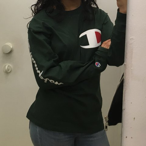 a4c8fe0d Forest green champion x uo ls 🌲🌲 Retails 49$ not sold no a - Depop