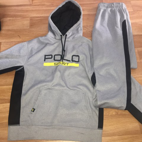 94fd160b25578 RALPH LAUREN POLO SPORT TECH POLY MEN u0027S HOODED FULL TRACKSUIT MULTI  ... polo sport tracksuit