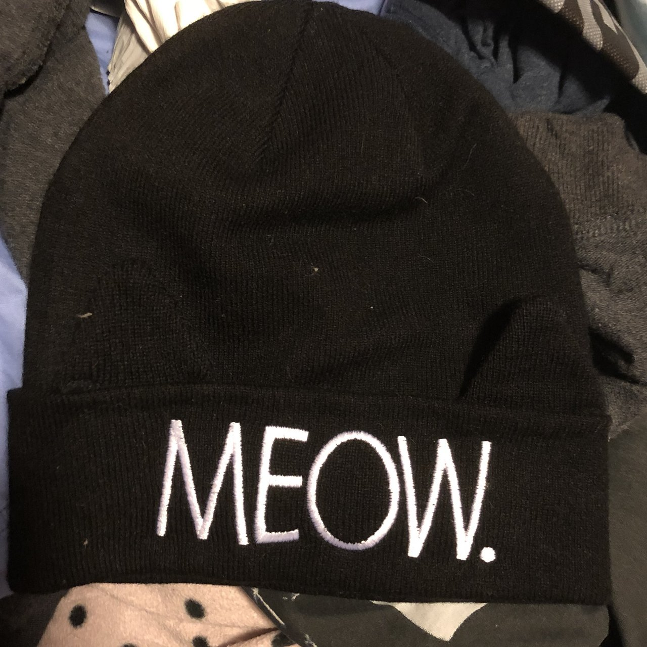 Meow beanie! Even has ears. Never worn a5ad39a19f0