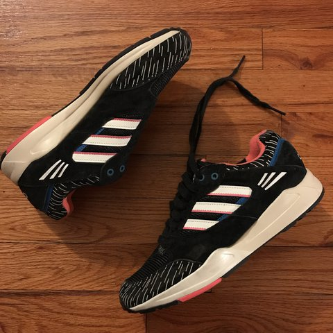 49db84bb2fe8 Adidas Trainers Black Suede Size 7 Women s Never right - Depop