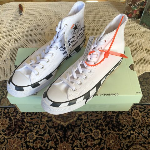 4351bdbc7cd Converse Chuck Taylor 70 x off white Condition DSWT express - Depop