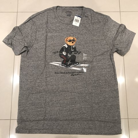 53f3d6ea @orchardrt. 4 months ago. Potters Bar, United Kingdom. 🕺🏻SALE🕺🏻 Ralph  Lauren polo Sport ski bear t shirt • brand new with tags • size large • pit  ...