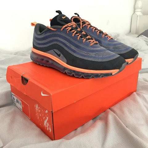 "pick up da5c8 256be  mhk2000. last year. Addlestone, United Kingdom. Nike Air Max 97 Hyperfuse  Hybrid, Orange Iron Purple "" ..."
