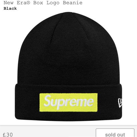 cee81d4d91a Supreme Box Logo Beanie (New Era) One size fits all Sold out - Depop