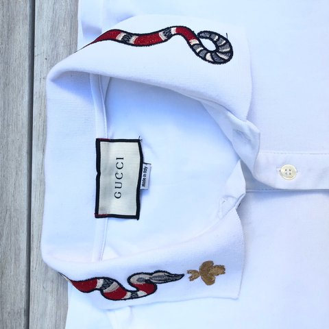 3b31a0cc0f7b Gucci Polo T Shirt Embroidered snake & Bee RT: 600 I'm for a - Depop