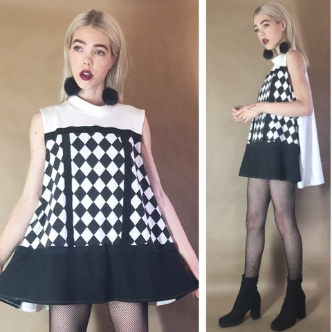 7cd3f663272 Dope rare 1960 s mod tent dress made from cotton tee Have it - Depop