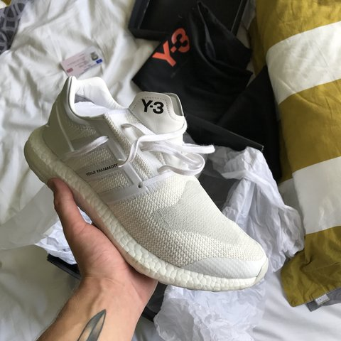 5b38a7425c743 Y-3 Pure Boost Triple White Perfect Summer haven t worn Og - Depop