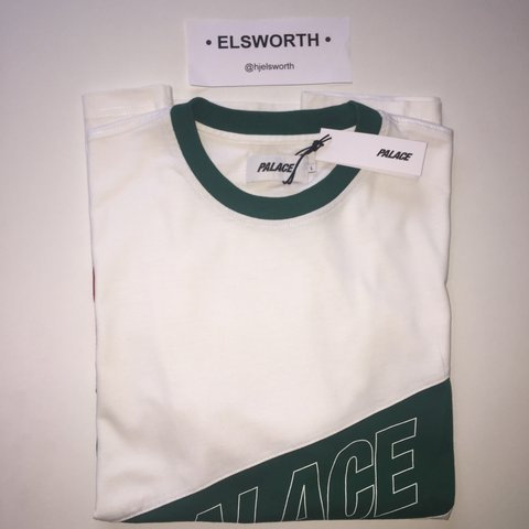 f5542658c PALACE R Stripe Tee (Gucci Colourway) Condition 10/10 :   - Depop