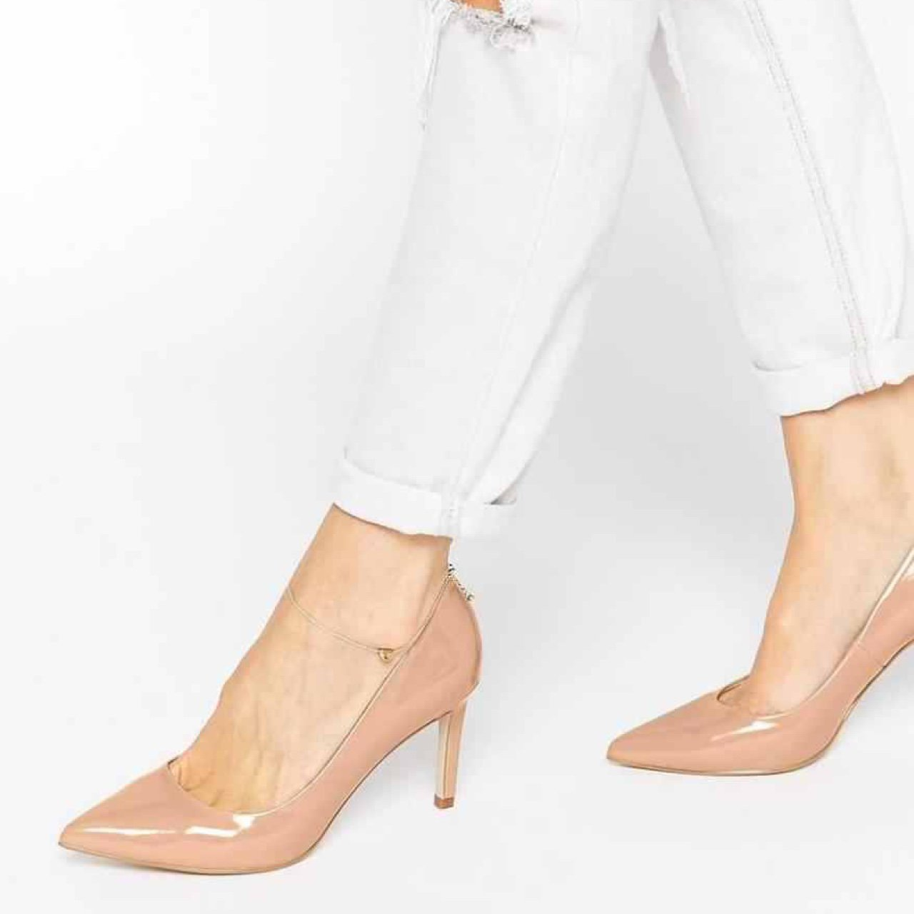 7fac9946b38 Asos nude pointed heels. Size 6. Only worn once for an Scuff - Depop