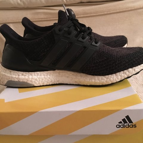 d8ab26100713a Adidas ultra boost v2 size uk8 in black. Used but in 8 or - Depop