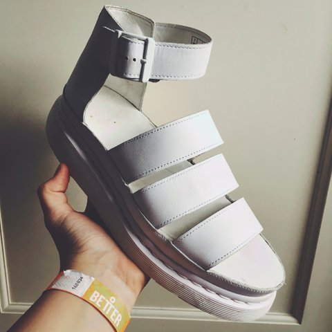 58b482b1e3b3 Dr Martens Clarissa White Sandals in size UK 7! Have been in - Depop