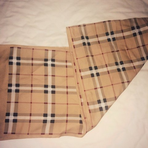 fd3faa823f7 Vintage fake Burberry scarf. Never used and in perfect - Depop