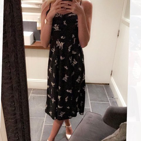 cd08a1072191 Beautiful black floral soft dress from Oysho (sister brand - Depop