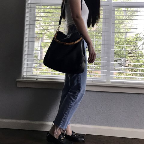 ea27a1a0e4da @chloeannabelle. last year. Sherwood, United States. Authentic vintage Gucci  bamboo handle leather tote ...
