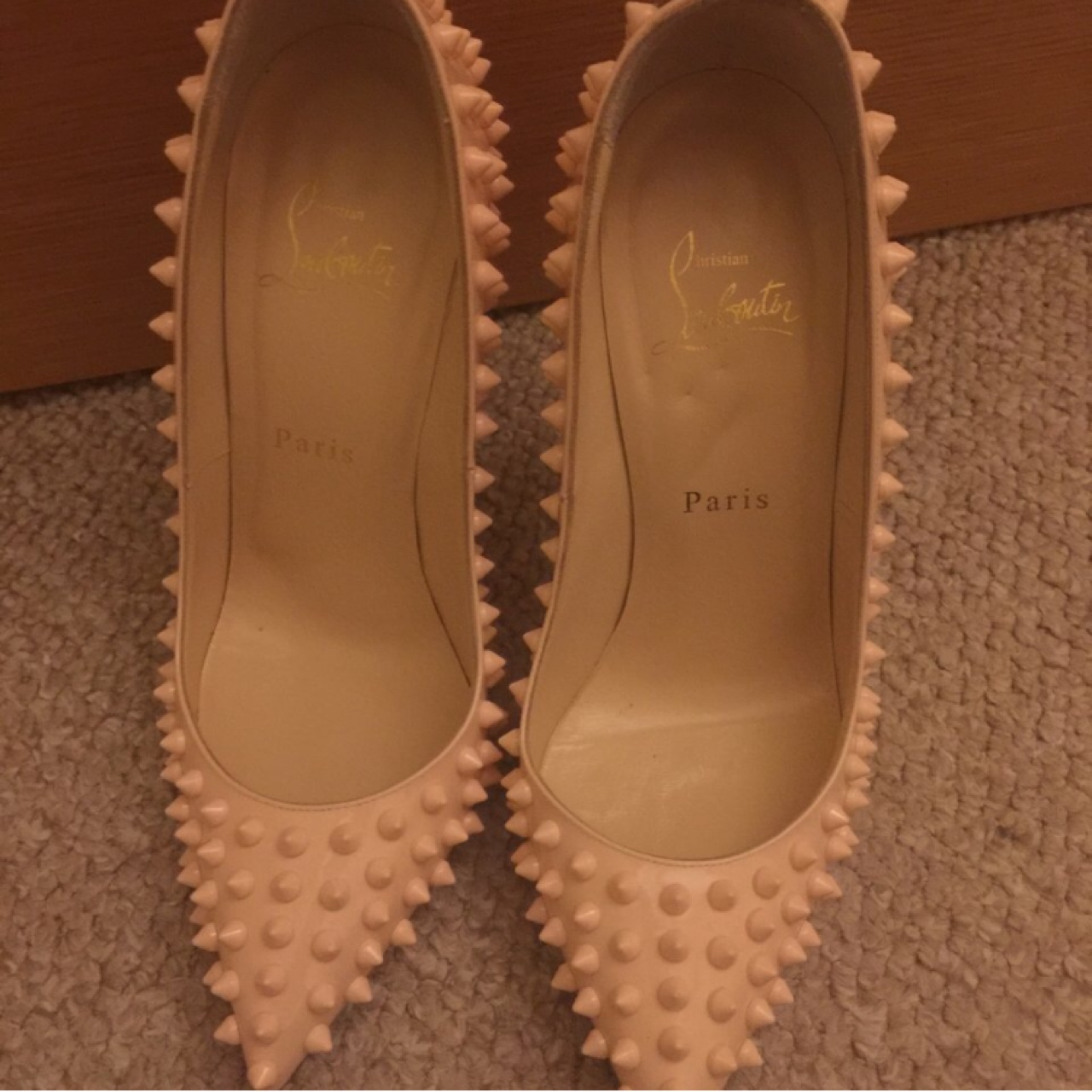 pink spiked louboutin heels