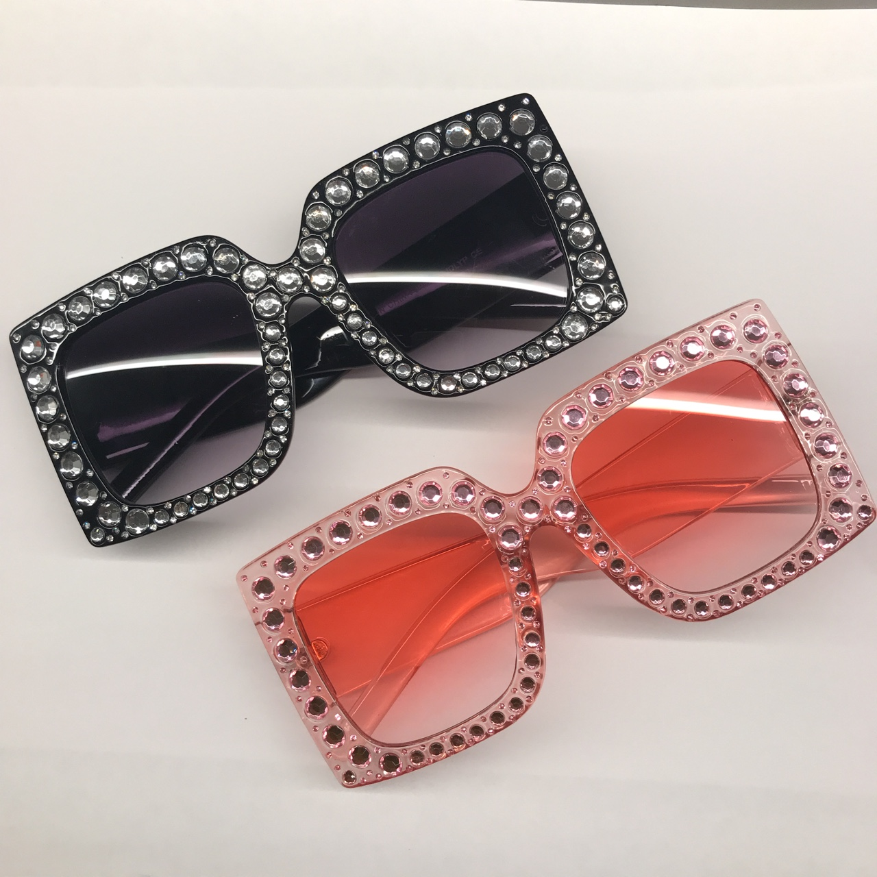 b598b32fa3b16 OVERSIZED SQUARE RHINESTONE BLING WOMEN SUNGLASSES 🔸 🔸 - Depop