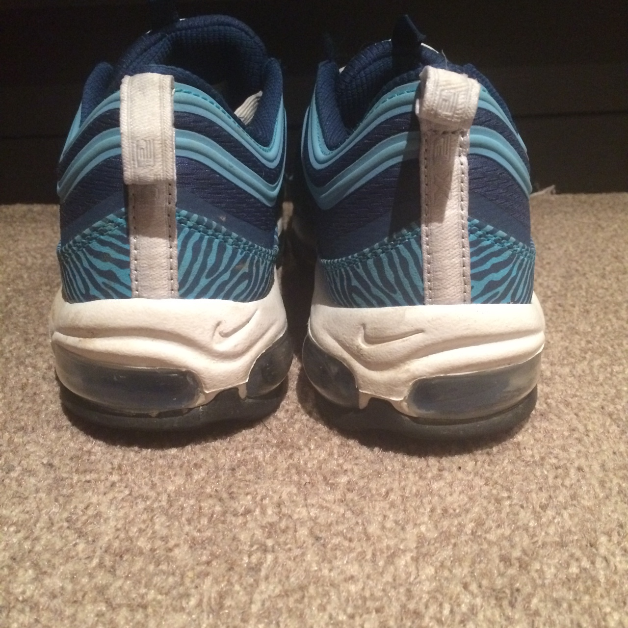 Nike Air Max 97 Blue Zebra, UK Size 9, £80 for the Depop