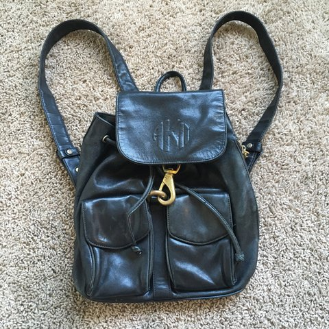 Vintage akii #90s small leather #backpack. 12