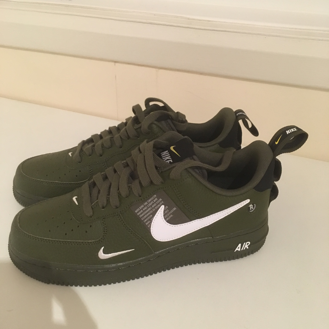 capitalismo Bocadillo despierta  Nike Air Force 1 '07 LV8 Utility Olive Green. Brand... - Depop