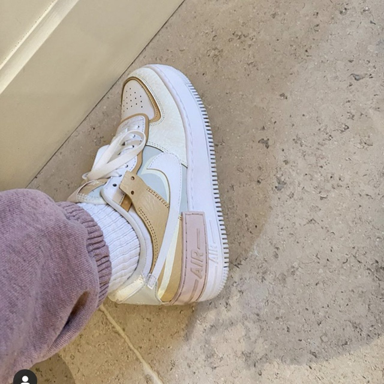 Brand New In Box Nike Air Force 1 Shadow Tonal Cream Depop Nike air force 1 shadow pastel summit white ghost trainers new various sizes. brand new in box nike air force 1