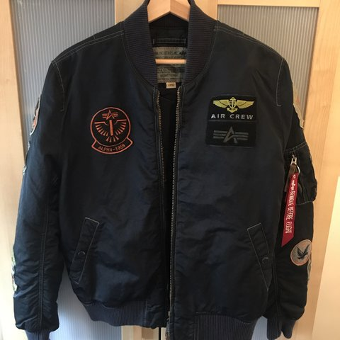 new style c5127 dfb87 Alpha Industries air crew alpha 1959 vintage navy... - Depop
