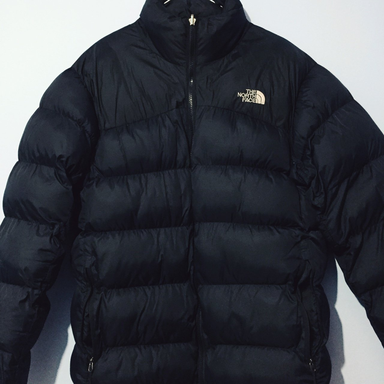 THE NORTH FACE NUPTSE IN IT S ORIGINAL BLACK AND GREY FOR a - Depop 9f080469b