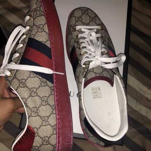 94559a7e8c1 GUCCI MONOGRAM SNEAKERS bought in neiman Marcus with Size US - Depop