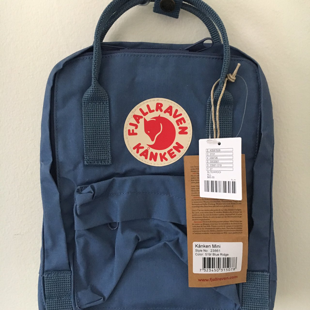 23f6f51272ffe New with tags Fjallraven Kanken Mini Backpack in blue. from - Depop